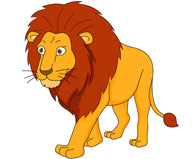 Large Male Lion Walking Clipart. Size: 6-large male lion walking clipart. Size: 66 Kb-10