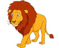 large male lion walking clipart. Size: 6-large male lion walking clipart. Size: 66 Kb-6