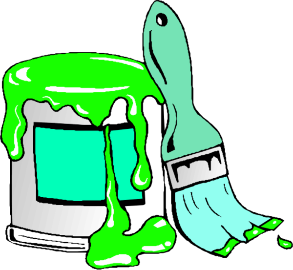 Large Medium Thumb - Paint Can Clipart