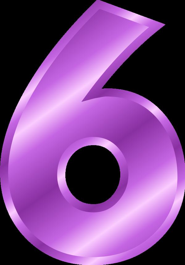 Large Number 6 Clipart-Large Number 6 Clipart-3