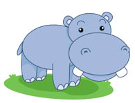 large pink hippo in water clipart. Size: 40 Kb