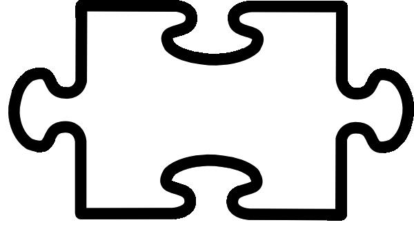 Puzzle piece large. Clipart pieces clipartlook