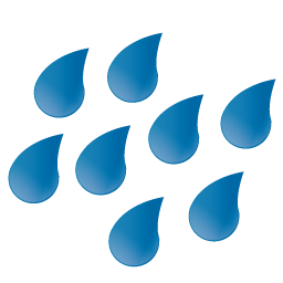 Large Raindrops Icon