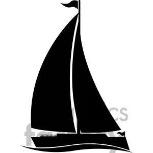 large sailboat silhouette in .