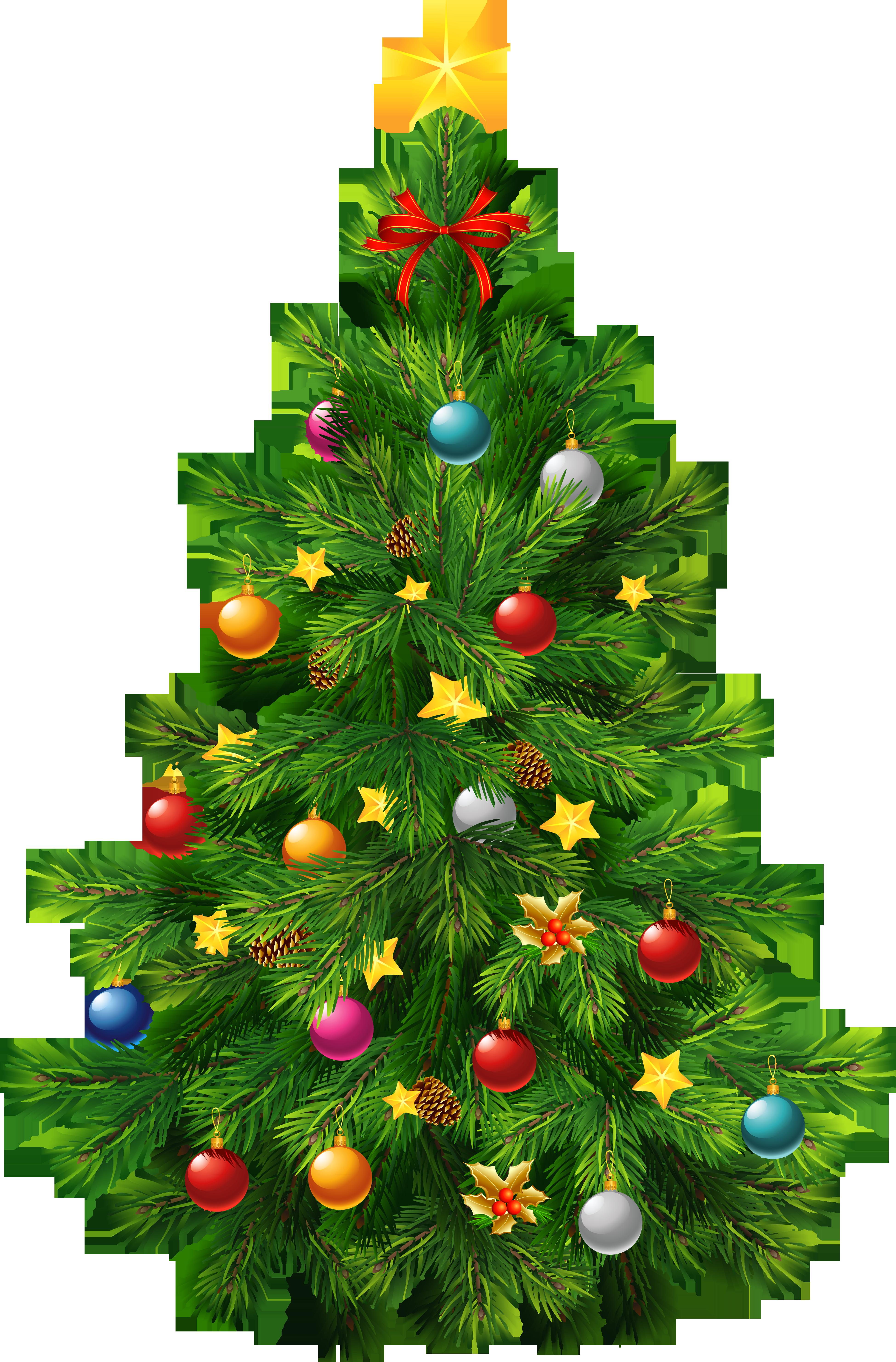Large transparent deco christmas tree clipart 0