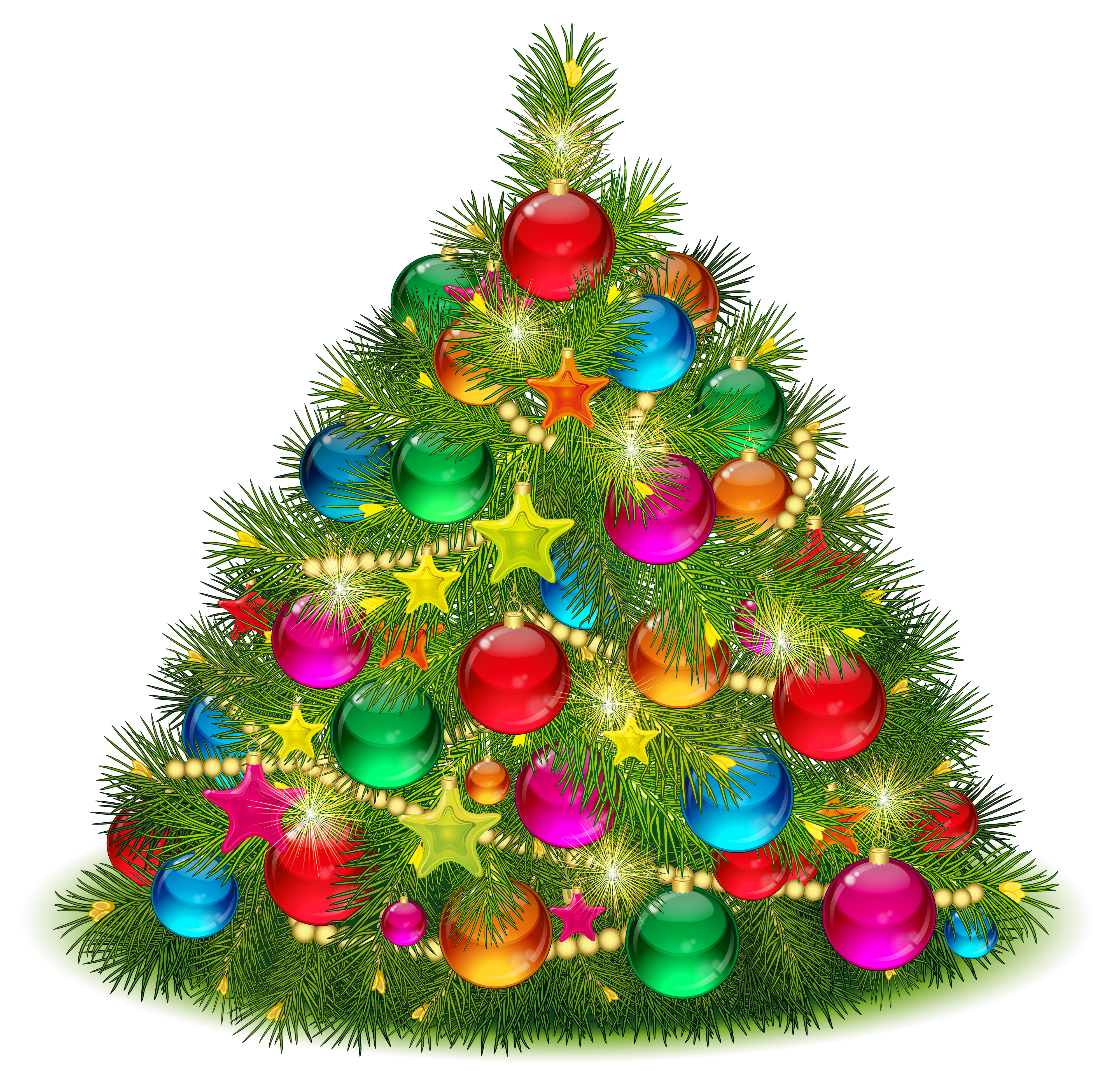 Large Transparent Decorated Christmas Tr-Large Transparent Decorated Christmas Tree Png Clipart Png-16
