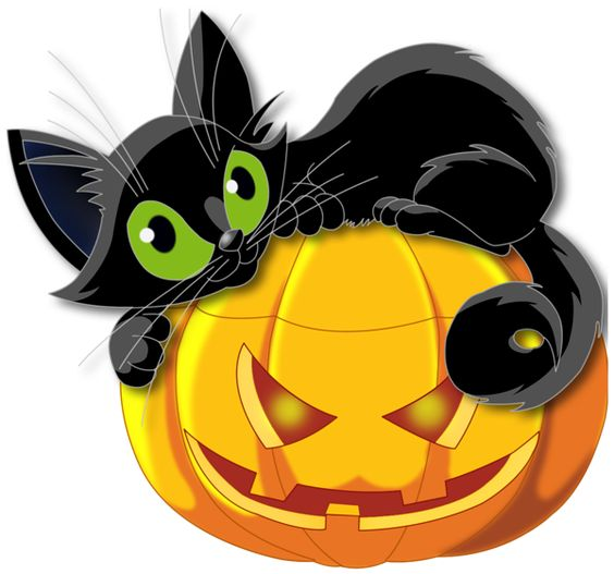 Large Transparent Halloween Pumpkin With-Large Transparent Halloween Pumpkin with Black Cat Clipart-17