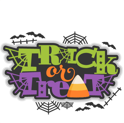 Large Trick Or Treat Title 3  - Trick Or Treat Clipart