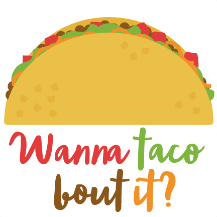 Large wanna taco about it clip art