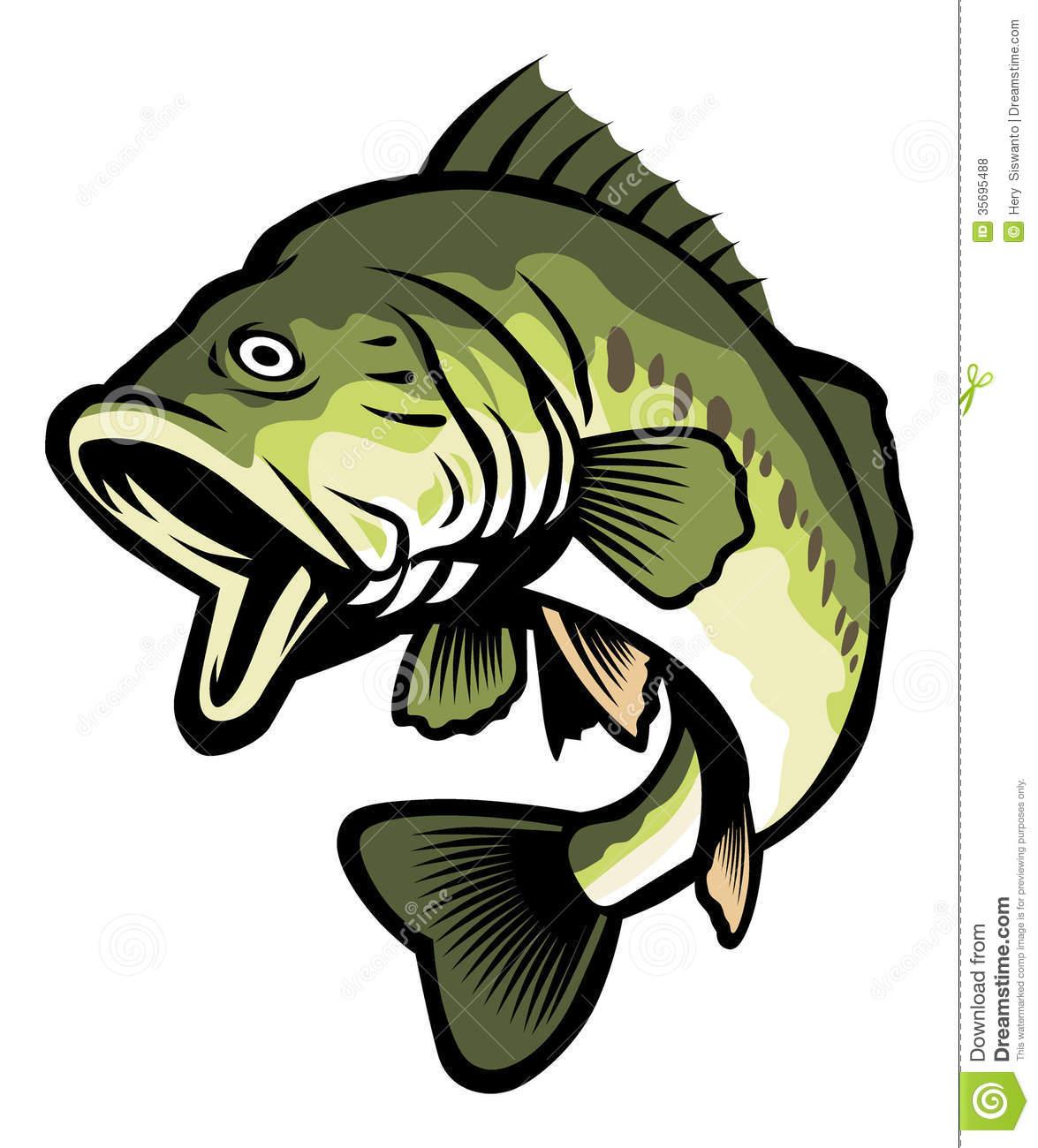 Largemouth Bass Clip Art ..-Largemouth Bass Clip Art ..-11