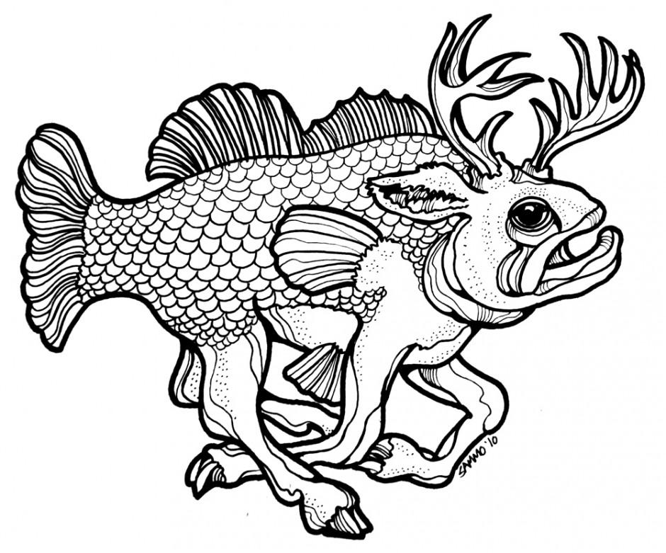Largemouth Bass Fish Clip Art