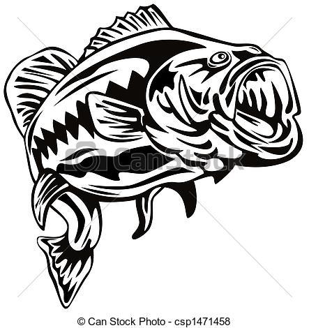 ... Largemouth Bass - Illustration Of A -... Largemouth bass - Illustration of a bass-15