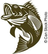 Largemouth Bass - Illustratoion Of A Lar-Largemouth Bass - Illustratoion of a largemouth bass jumping Largemouth Bass Clip Artby ...-16