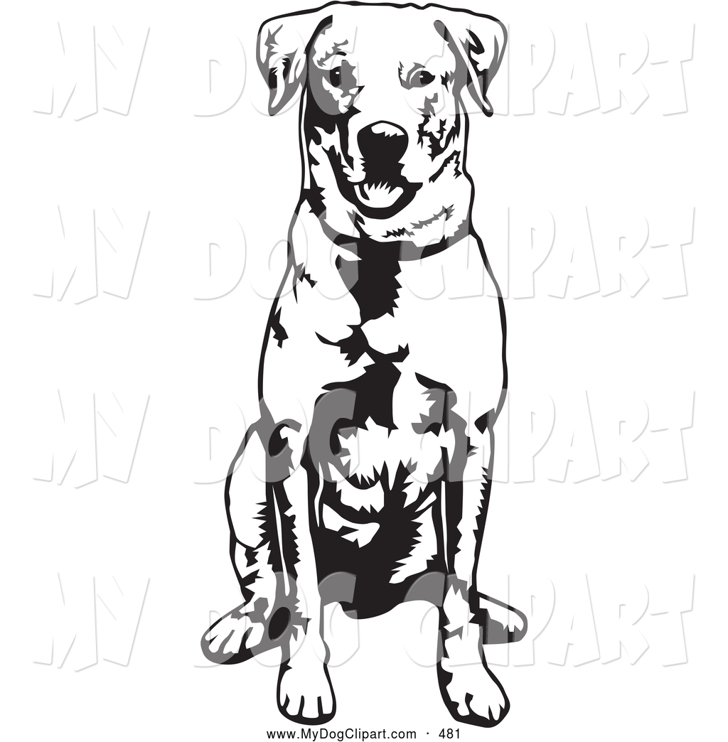 Larger Preview Clip Art Of A Cute Of Obedient Labrador Retriever Dog