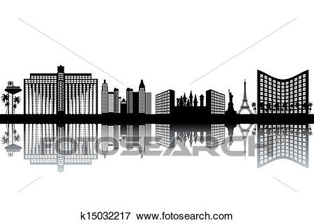 Clip Art - Las Vegas skyline. Fotosearch - Search Clipart, Illustration  Posters, Drawings