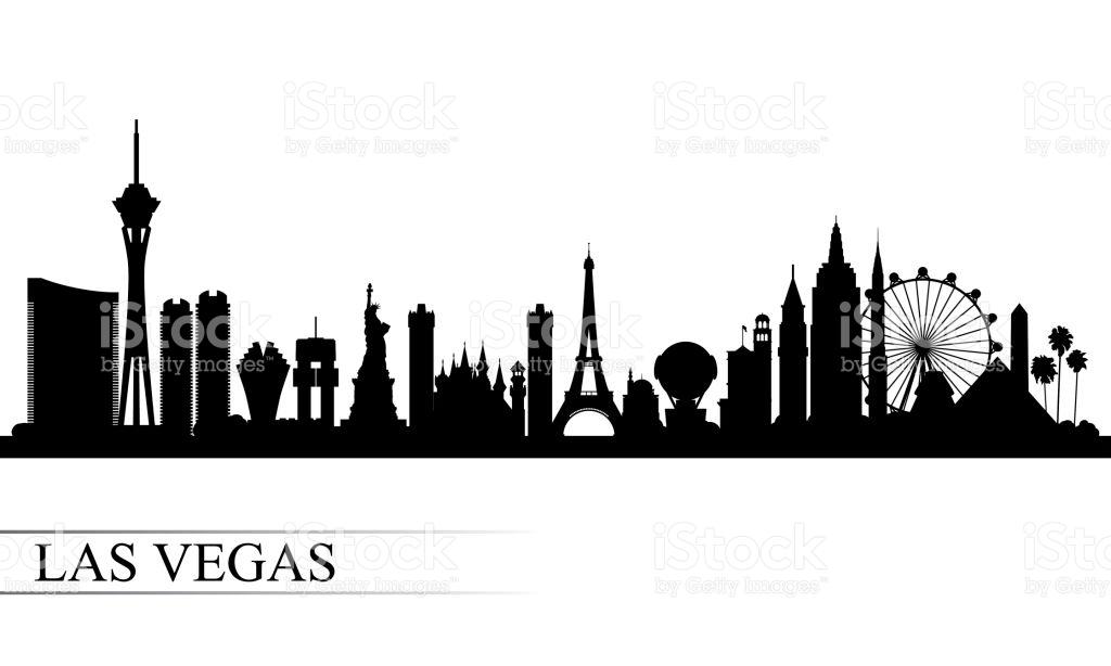 Las Vegas şehir manzarası siluet arka plan royalty-free las vegas şehir  manzarası siluet arka