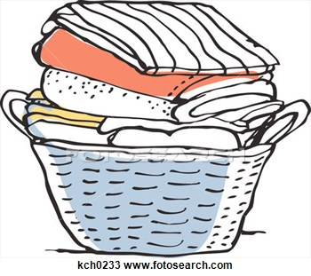 Laundry Basket Clip Art