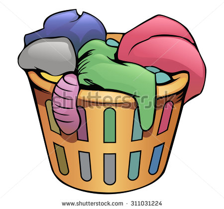 Laundry Basket Clipart