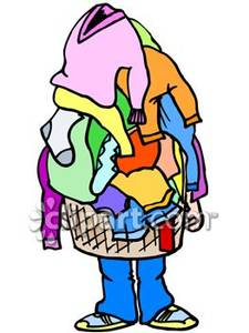 Laundry Clipart Overflowing Laundry Bask-Laundry Clipart Overflowing Laundry Basket Royalty Free Clipart-17