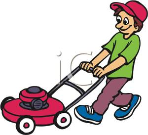 Mowing Lawn Clipart - Clipart