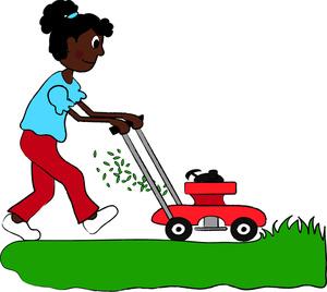 Lawn mower clipart image black .
