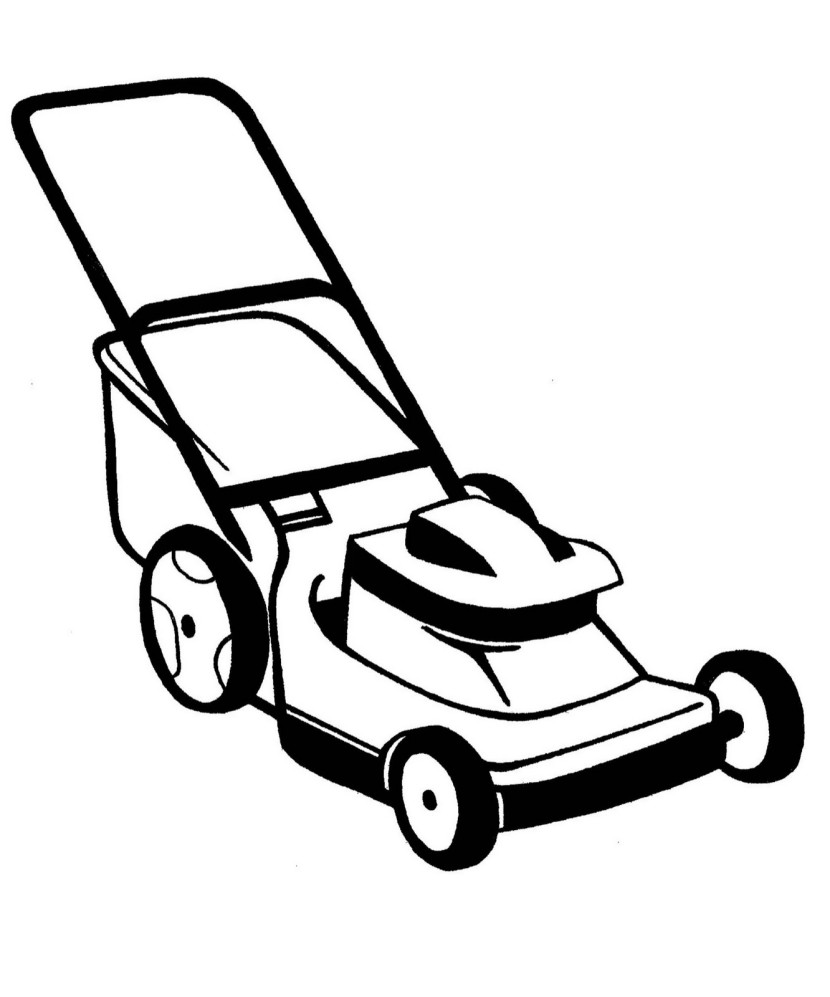 Lawn Mower Colouring Pages Page 3 Clipar-Lawn Mower Colouring Pages Page 3 Clipart Free Clip Art Images-12