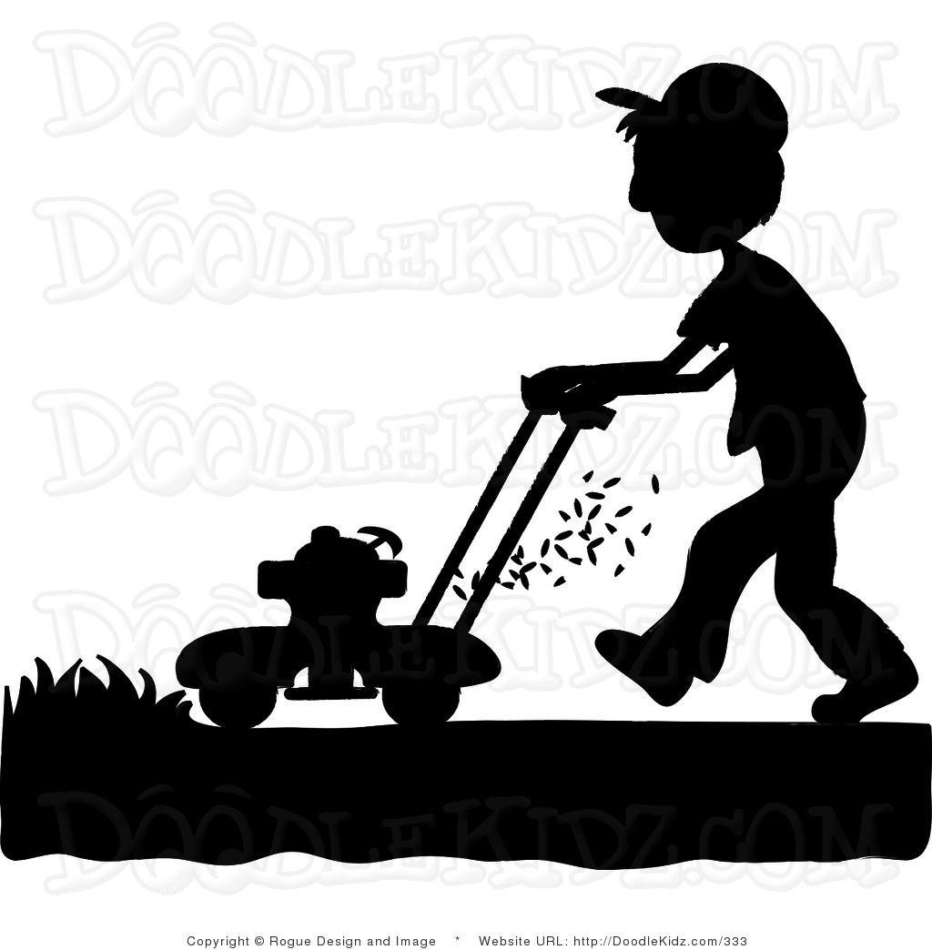 Lawn Mowing Clipart 94192 Ilration By Pams