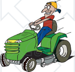 Lawn Mowing Clipart - .