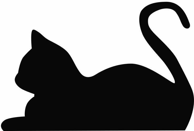 Laying Cat Silhouette | A Study In Silho-Laying Cat Silhouette | A Study in Silhouettes | Clipart library-8