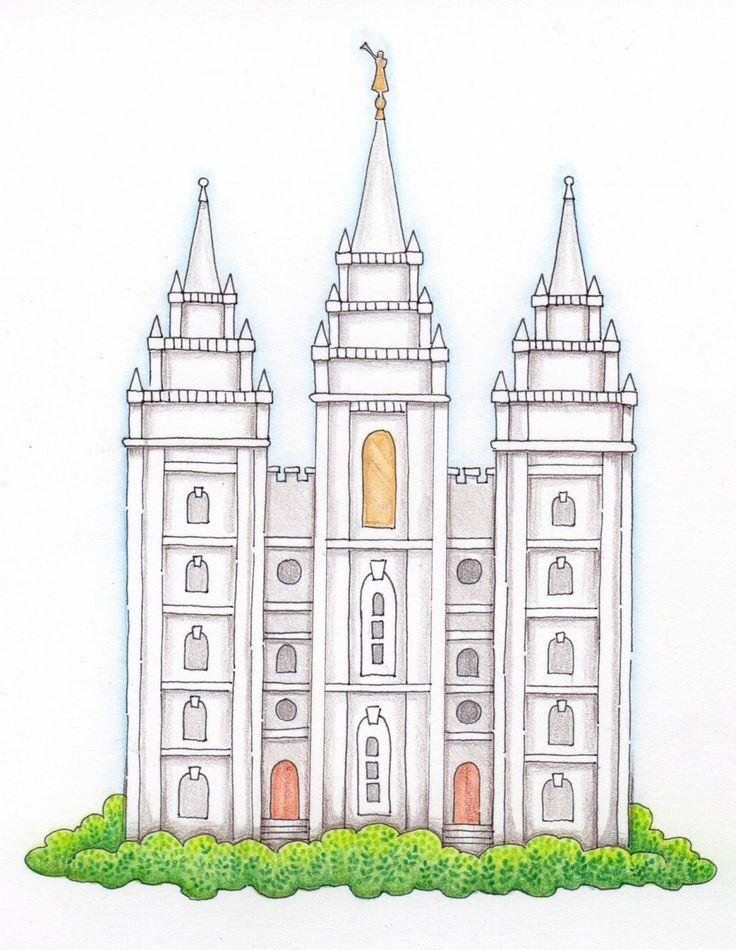 Lds Temple Clipart Images