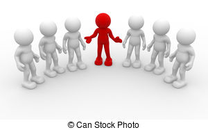 ... Leadership - 3d people -human charac-... Leadership - 3d people -human character, group of person.-3