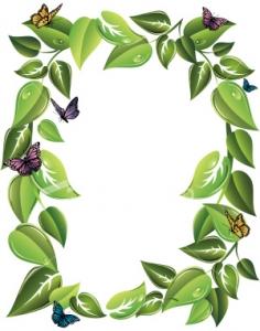 leaf border clipart
