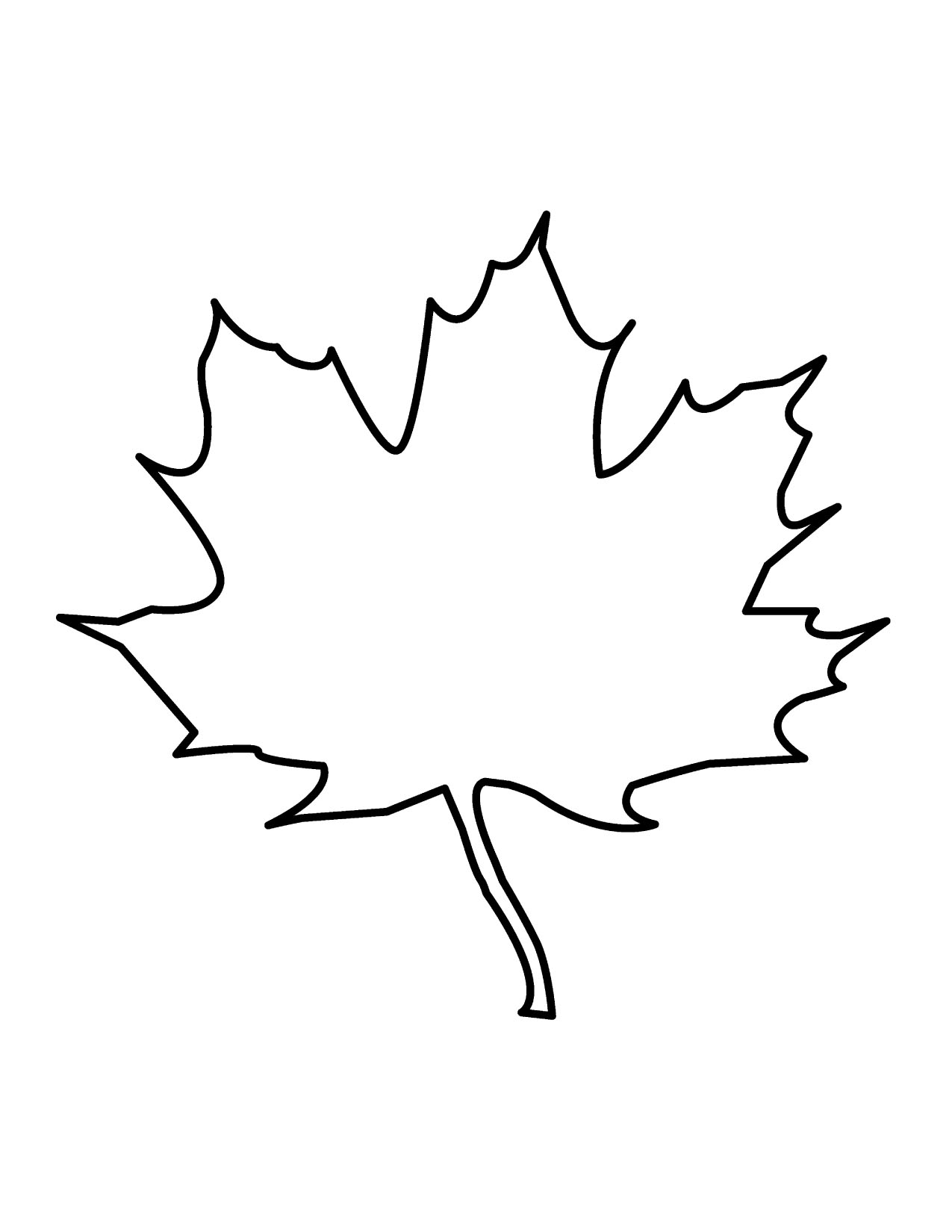 Leaf Outline Clip Art Black And White Clipart Best