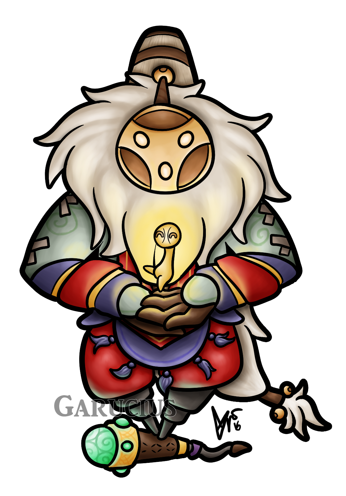 Chibi Bard by Garucius HD Wallpaper Artwork Fan Art League of Legends lol  (2)
