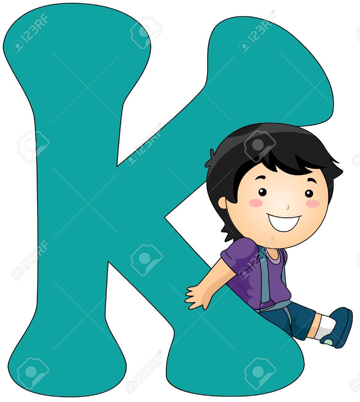 Leaning Against a Letter K .-Leaning Against a Letter K .-19