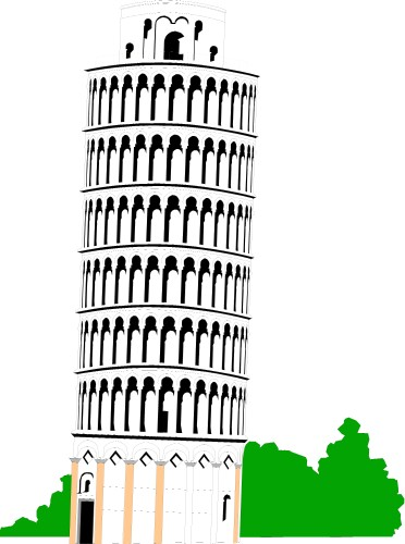 Leaning Tower Of Pisa Clip Art Clipart Best