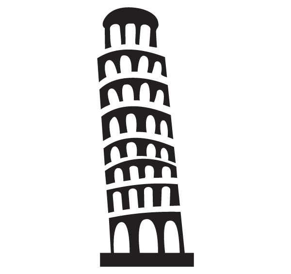 ... Leaning Tower Of Pisa Clip Art - clipartall ...