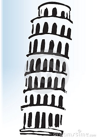 Leaning Tower Of Pisa Drawing Royalty Free Stock Photo - Image: 26033875