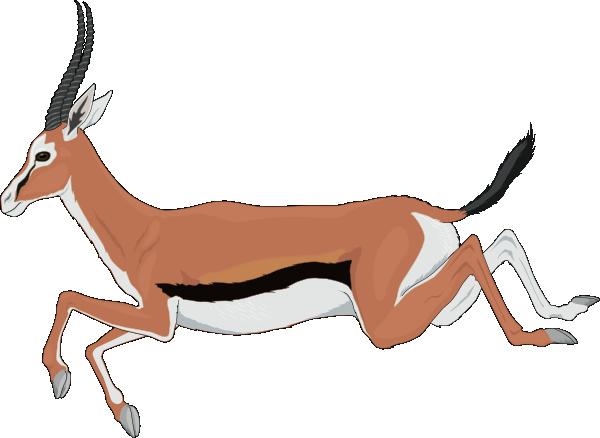 Leaping Antelope Clip Art-Leaping Antelope Clip Art-16