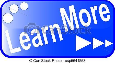 blue internet web button LEARN MORE icon - csp5641853