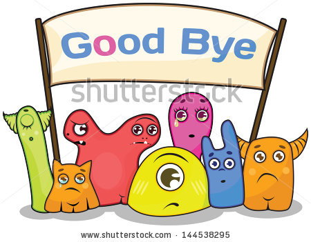 Leaving And Waving Goodbye. image