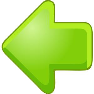 Left Arrow Green clip art .