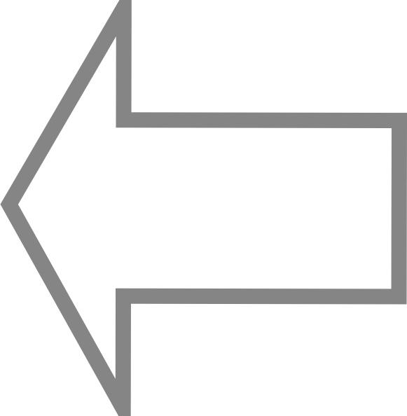Left Outline Arrow clip art