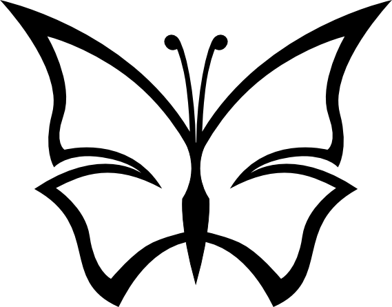 lemmling abstract butterfly 1 - Svg Clipart