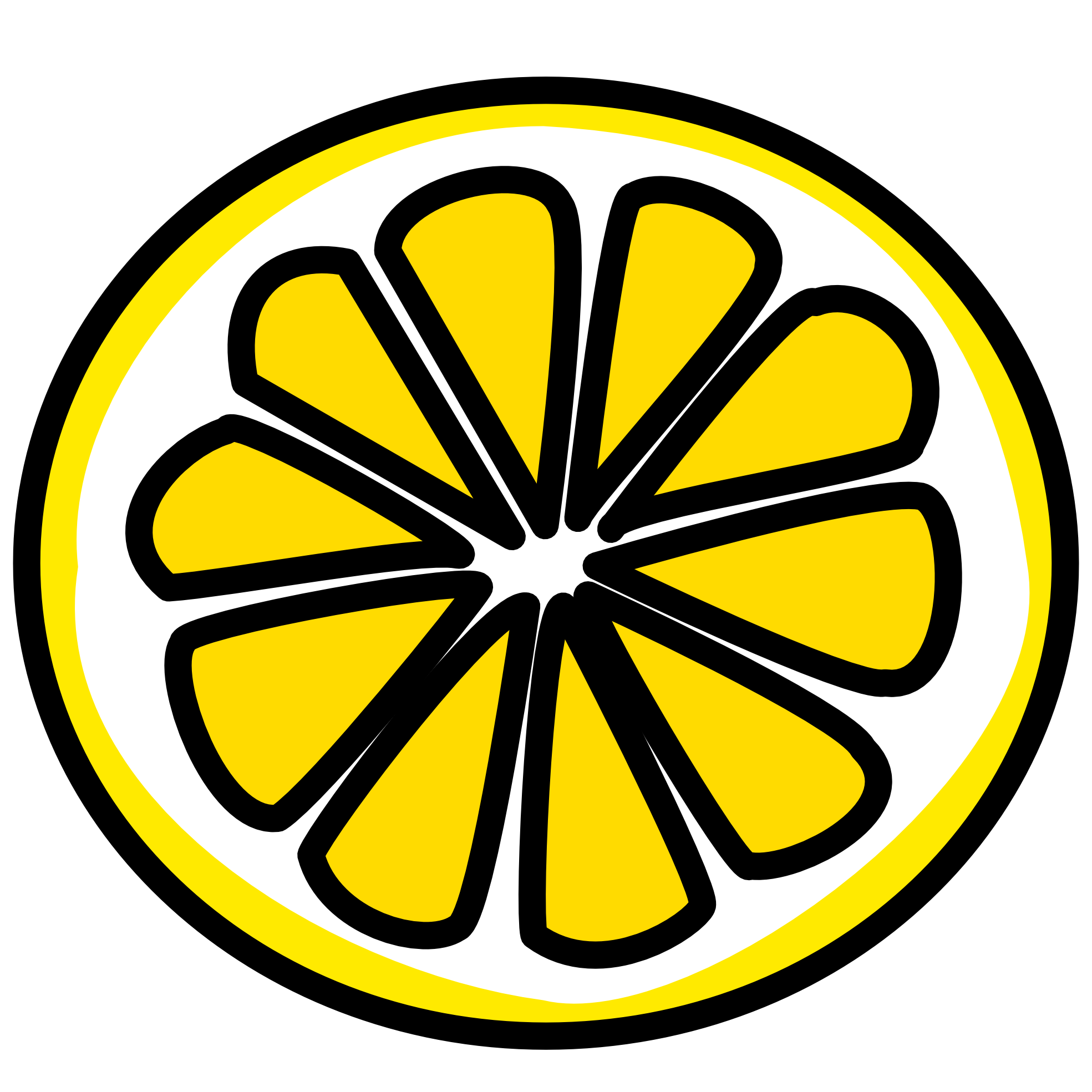 lemon slice clipart