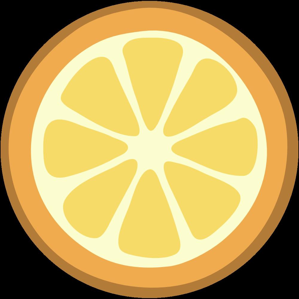 Lemon slice clip art 2