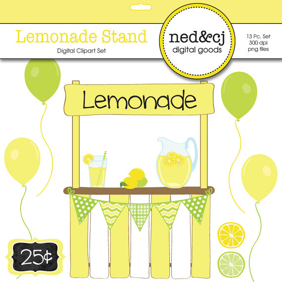 ... lemonade stand digital sbook clipart lemonade clipart lemon ...