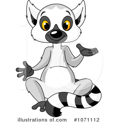 Lemur Clipart 1071112 By Pushkin Royalty Free Rf Stock
