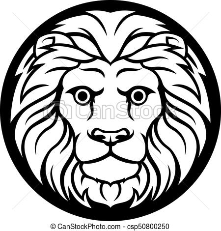 black and white leo the lion