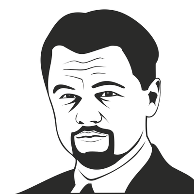 Leonardo DiCaprio portre çizdi